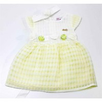 Kts Baby Sarı Papatya Kız Bebek Elbise