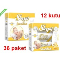 Sleepy Sensitive Islak Havlu Mendil 60 Li 36 Adet (Yeni)