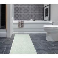Zeria Rüya Pamuklu Klozet Takımı Banyo Paspası 70*120 Su Yeşili
