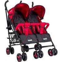 Kanz Carriega İkiz Bebek Arabası Kırmızı