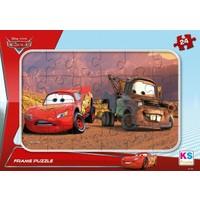 Ks Games Cars 24 Parça Frame Puzzle (Şimşek Mcqueen Ve Mater)
