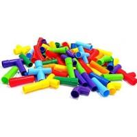 HIQTOYS Eğitici Öğretici Boru Şeklinde 56 Parça Yapı İnşa Oyun Çocuk Lego Seti Oyunu Eğitsel Oyuncak Setleri