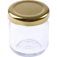 KullanAtMarket Altın Mini Cam Kavanoz - 5 Adet