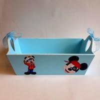 Artez Tasarım Bebek Şekeri Sepeti Korsan Miki Mouse