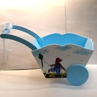 Artez Tasarım Bebek Şekeri Sepeti El Arabası Modeli