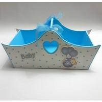 Artez Tasarım Bebek Şekeri Sepeti Puantiyeli
