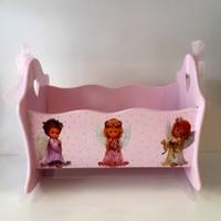 Artez Tasarım İsme Özel Bebek Şekeri Sepeti 3 Melek Modeli