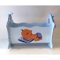 Artez Tasarım İsme Özel Bebek Şekeri Sepeti Uyuyan Bebek