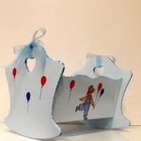 Artez Tasarım İsme Özel Bebek Şekeri Sepeti Balonlu Çocuk Modeli