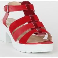 Markazen Üç Kemerli Terlik Sandalet - Kırmızı