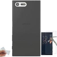 Teleplus Sony Xperia X Compact Tam Korumalı Silikon Kılıf + Cam Ekran Koruyucu