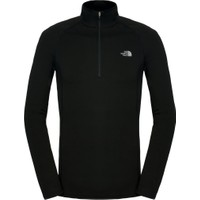 The North Face - M Warm L/S Zip Neck - Erkek Sweatshirt Siyah