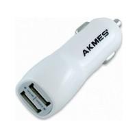 Akmes Micro USB Universal Araç Şarjı (Çift Giriş)
