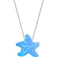 Bella Gloria Mavi Opal Denizyıldızı Gümüş Kolye (Gk00281)