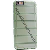 Case 4U Apple iPhone SE Çizgili Moto Arka Kapak Yeşil