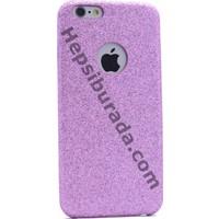Case 4U Apple iPhone SE Deri Görünümlü Simli Arka Kapak Mor