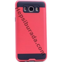 Case 4U Samsung Galaxy J510 J5 2016 Korumalı Arka Kapak Kırmızı