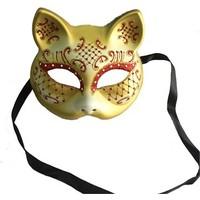Partistok Simli Kedi Maskesi Sarı