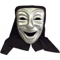 Partistok Pelerinli Gülen Surat Maskesi Gümüş