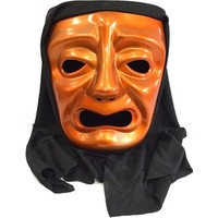 Partistok Pelerinli Ağlayan Surat Maskesi Turuncu