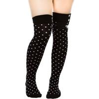 Partistok Cadılar Bayramı Puanlı Çorap Siyah