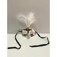Partistok Balo Maskesi Tüylü Gümüş