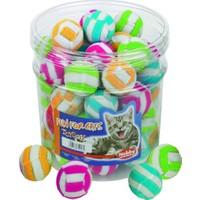 Nobby Pijamalı Çizgili Desenli Sesli Top Kedi Oyuncağı 4 cm