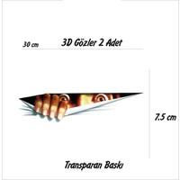 StickerMarket gözler Sticker (2Adet) Transparan Baskı