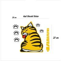 StickerMarket arka Cam Kedi Stickerı Silecekli