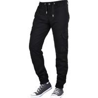 Fomino Erkek Kargo Pantolon Lastikli - Siyah