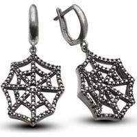 Vaoov 925 Ayar Gümüş Örümcek Küpe