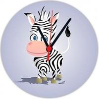 Fotografyabaskı Yavru Zebra 20 Cm Yuvarlak Hdf Saat Baskı
