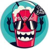 Fotografyabaskı Cool Milkshake 20 Cm Yuvarlak Hdf Saat Baskı