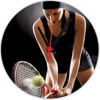 Fotografyabaskı Bayan Tenisçi 20 Cm Yuvarlak Hdf Saat Baskı