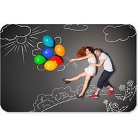 Fotografyabaskı Balonlar Ve İki Sevgili Dikdörtgen Mouse Pad