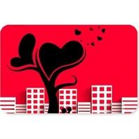 Fotografyabaskı City And Love Tree Dikdörtgen Mouse Pad