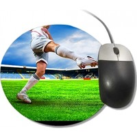 Fotografyabaskı Futbolcu Yuvarlak Mouse Pad
