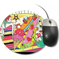 Fotografyabaskı Pop Art Yuvarlak Mouse Pad
