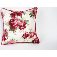 Premier Home Kırlent Kılıfı Kırmızı Çiçekli 45x45 cm