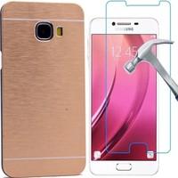 Kılıfshop Samsung Galaxy C5 Motomo Metal Kılıf + Ekran Koruyucu