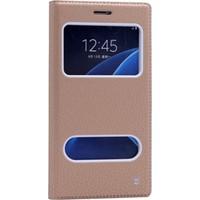 Kılıfshop Samsung Galaxy C5 Pencereli Kapaklı Kılıf