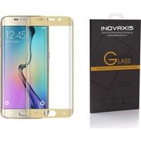 Inovaxis Koruyucu Ambalajında Samsung Galaxy S7 Edge 3D Kavisli Kırılmaya Dayanıklı Temperli Cam Ekran Koruyucu (Altın - Gold)