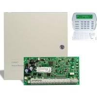 Dsc Pc 1864 Alarm Paneli + Büyük Metal Kabinet + Pk 5500 Şifre Paneli
