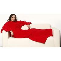 Helen's Giyilebilir Kollu Polar Battaniye-Kırmızı