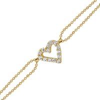 Altınsepeti Altın Minik Taşlı Kalpli Bileklik As212Bl