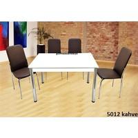 Gül Mutfak Masa Sandalye Takımı 4 Adet İkon Sandalyeli Mutfak Yemek Masası