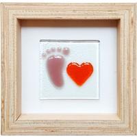 Cool Glass Design Sevgili Kız Bebek Cam Duvar Süsü 16 X 16 Cm El Yapımı
