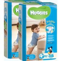 Huggies Oğlum İçin Bebek Bezi Jumbo 2'li Paket 4+ Beden 76 Adet