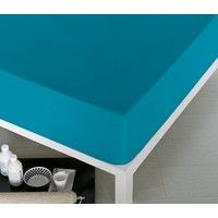 Home De Bleu Tek Kişilik Pamuk Çarşaf Turkuaz 100x200 cm