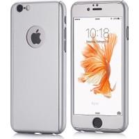 Mse Apple iPhone 6/6S Plus 360 Kaplama Kaydırmaz Yüzey Kılıf + Cam